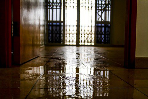 water damaged floors