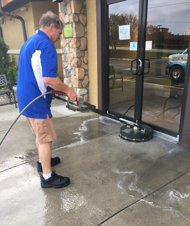 Pressure Washing a business in Columbia SC