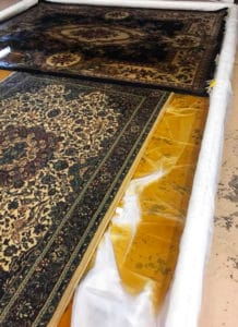 Soaking rugs stained with pet urine
